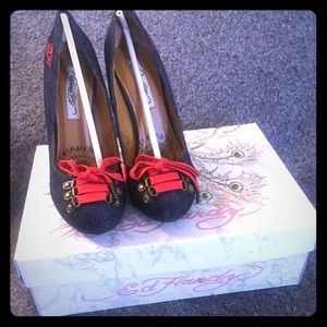 Ed Hardy Shoes - Ed Hardy 11FBT105W, BATU Heels Pumps *NEW!*